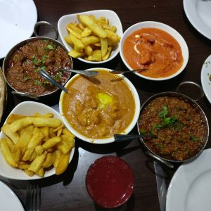 Chicken Tikka, Keema karahi, Prawn karahi