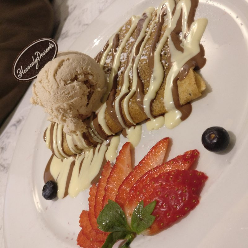 French Crepe with White Belgian Chocolate Heavenly Desserts Preston