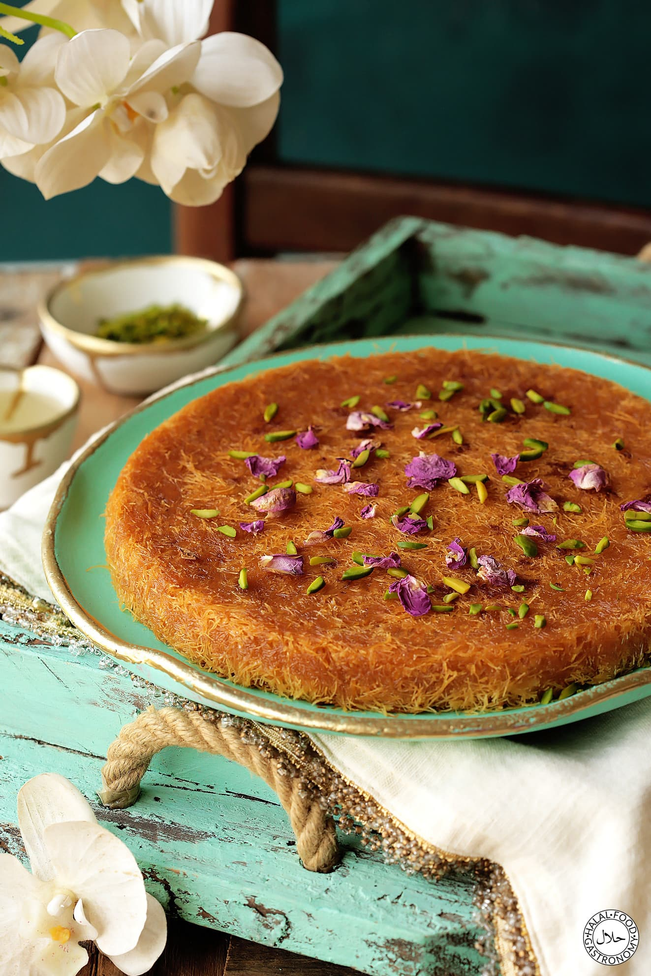 Ricotta Cheese Knafeh Recipe Halal Food Gastronomy