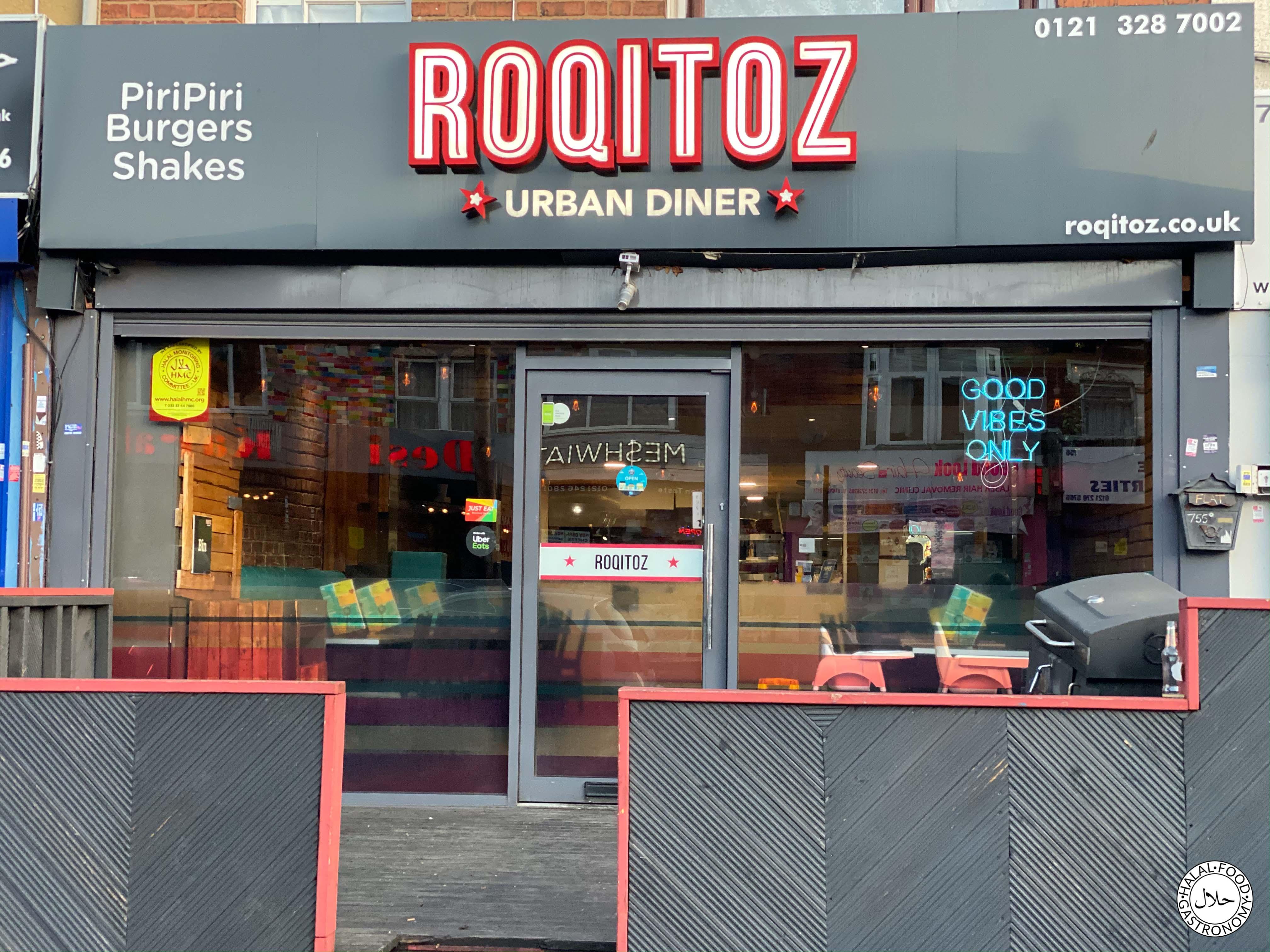 Roqitoz Urban Diner Birmingham Halal Food Gastronomy